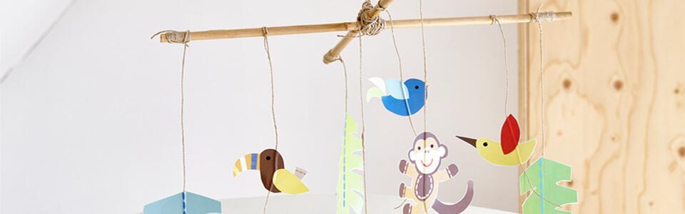 mobile bb fait maison amazing mobile bebe suspension chambre enfant bb en origami animaux. Black Bedroom Furniture Sets. Home Design Ideas